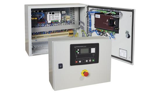 Pentru instalarea pe grupurile electrogene principale sau montaj perete despărțitor.